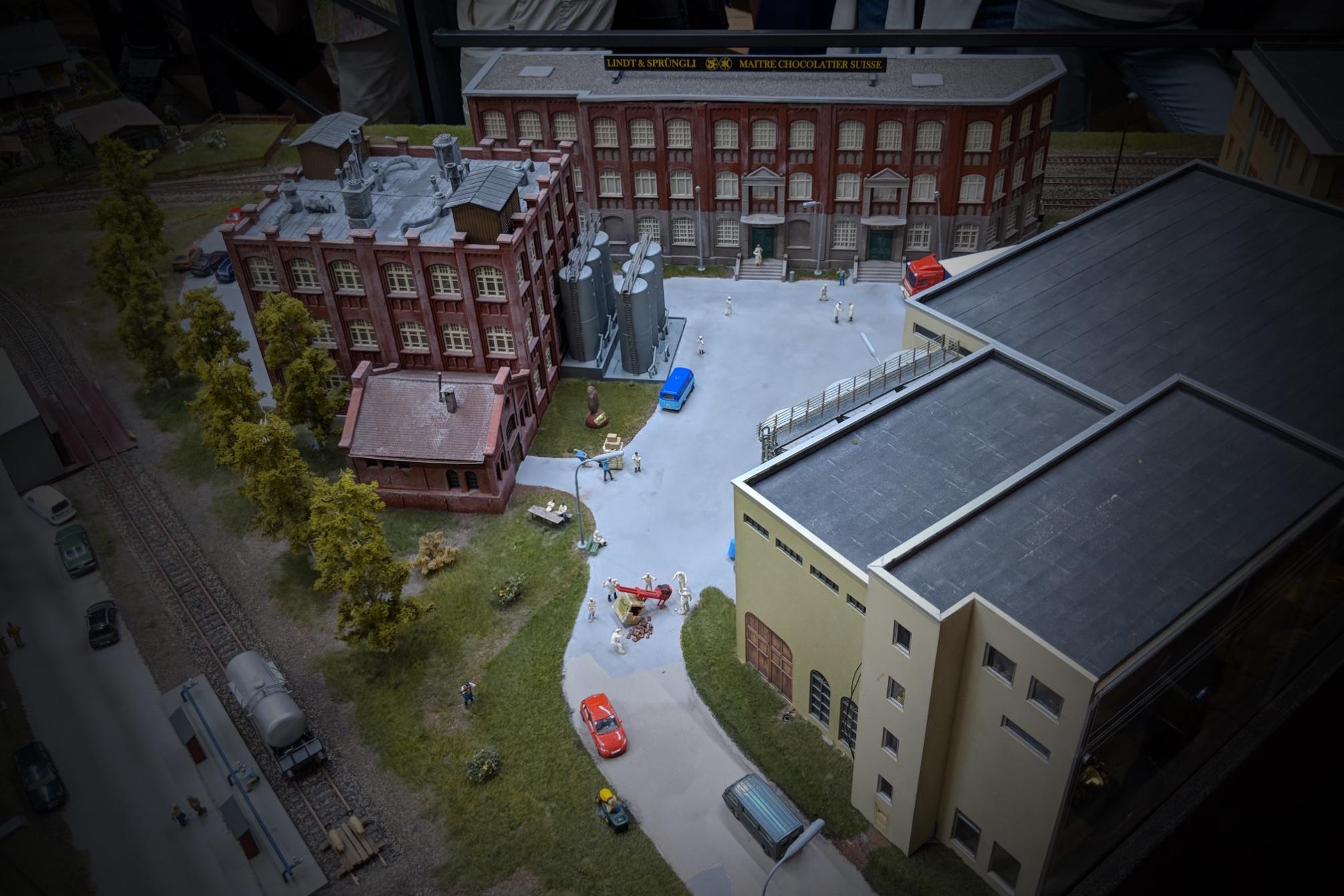 Lindt-Schokoladenfabrik im Miniatur Wunderland. Eigenes Foto