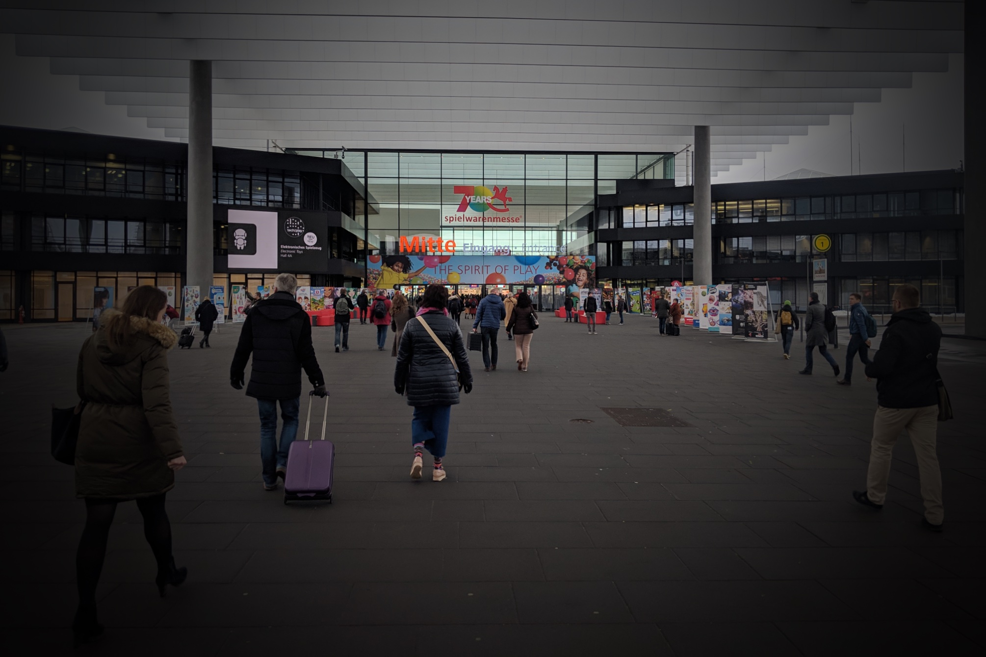 Der Eingang zur Spielwarenmesse Nürnberg 2019. Eigenes Foto